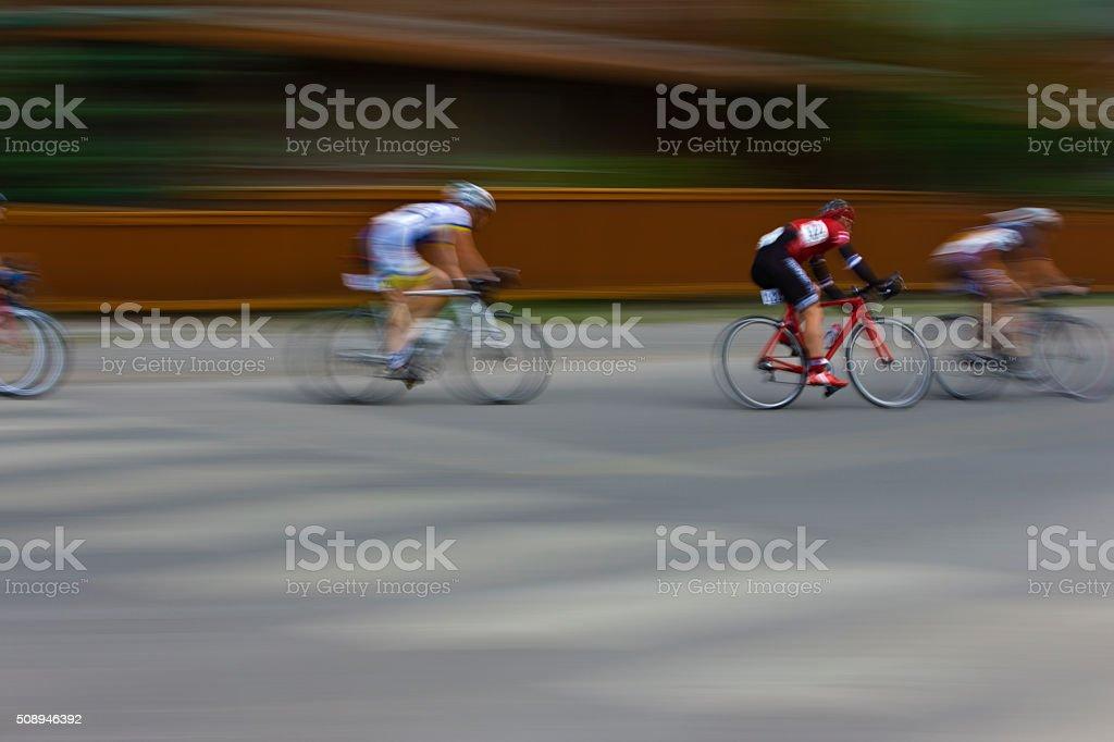 Men's Criterium Road Bike Race stock photo