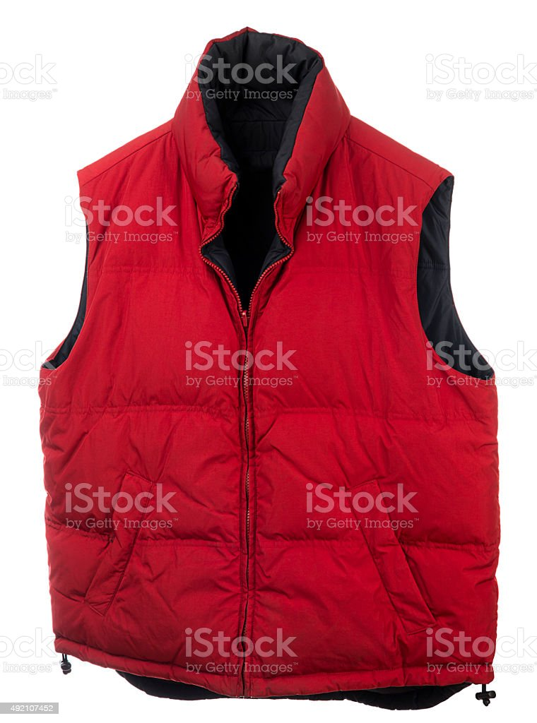 Men's Down Vest stock photo