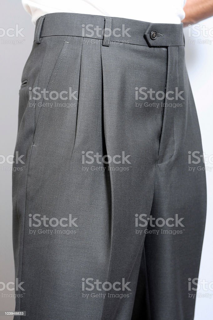 Men's Dress Slacks on Model - Close-Up royalty-free stock photo