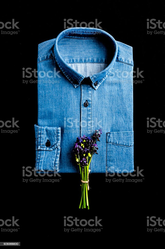 Erkek moda gömlek stok fotoğrafı