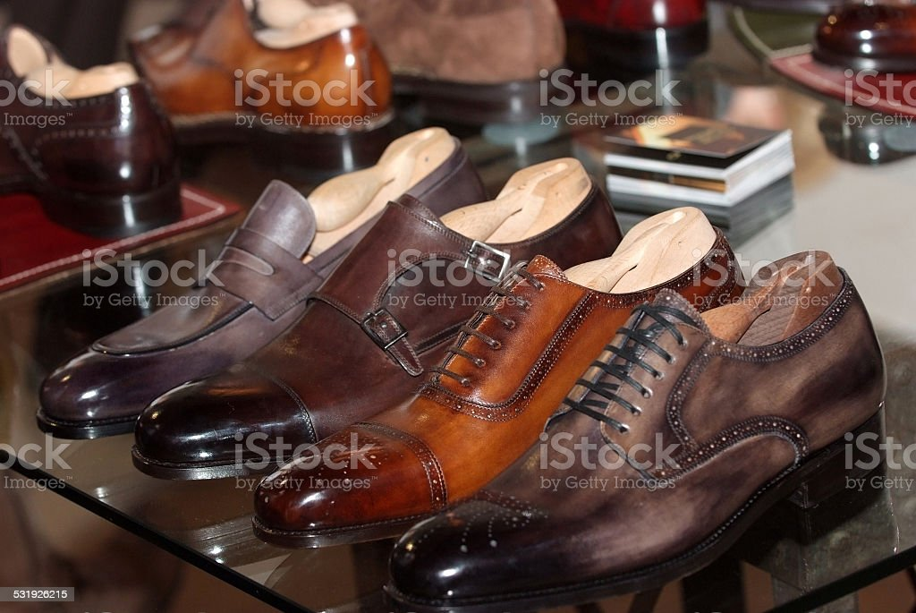 mens formal shoes stock photo