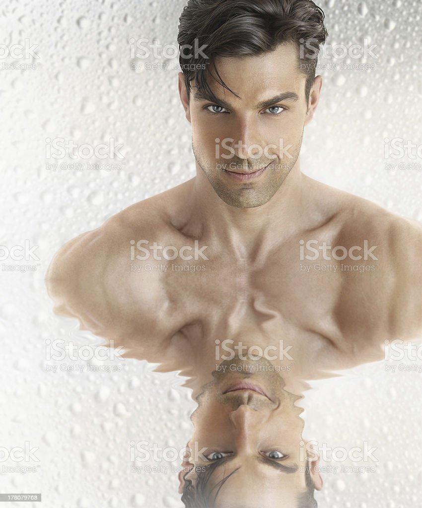 Men's grooming stock photo