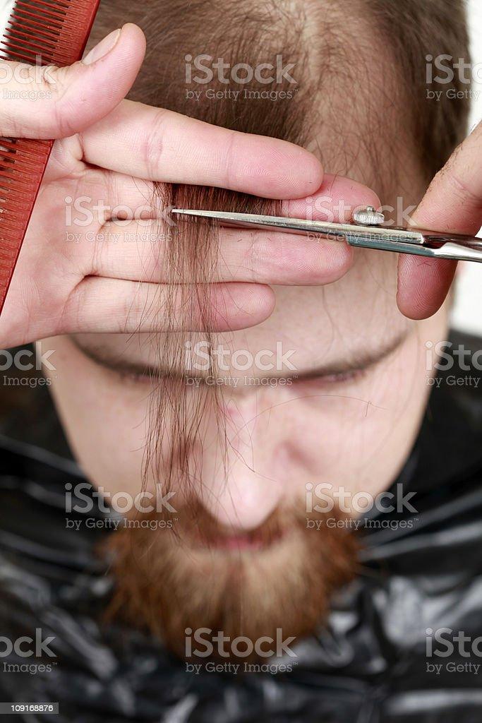 Men's Hair Cut stock photo