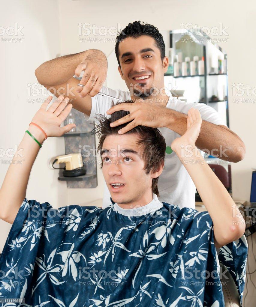 Men's Hair Cut royalty-free stock photo
