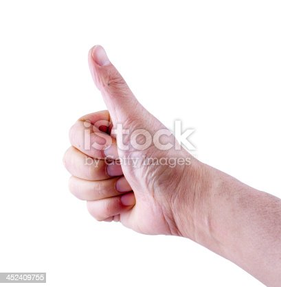 istock men's hand make thumbs up 452409755