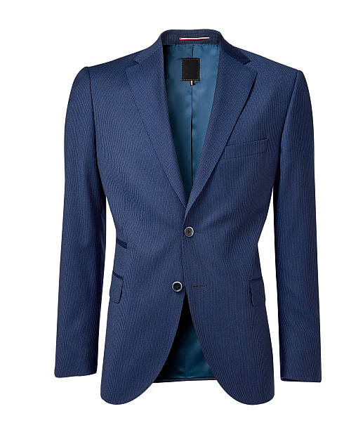 mens jacket isolated on white with clipping path - men blazer stockfoto's en -beelden