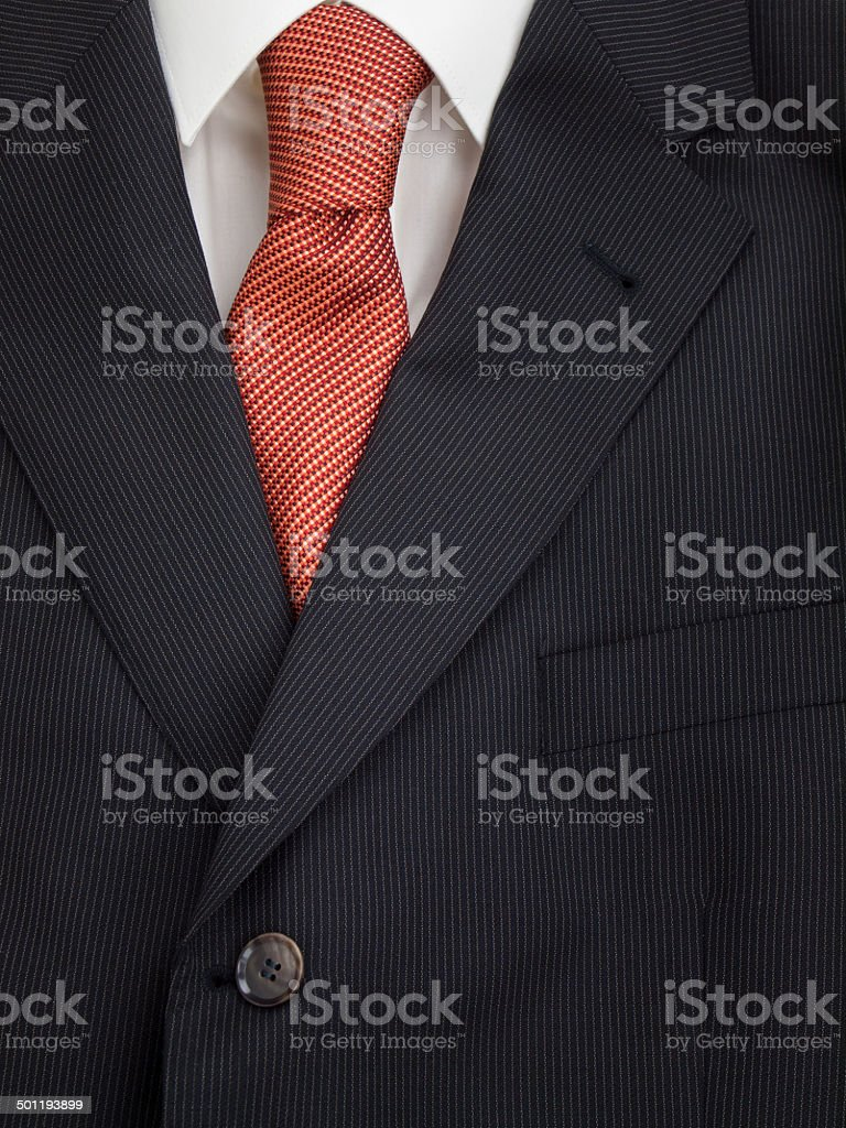 mens jacket shirt and tie stock photo