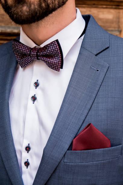 herren jacke mit einem schmetterling - bräutigam anzug vintage stock-fotos und bilder