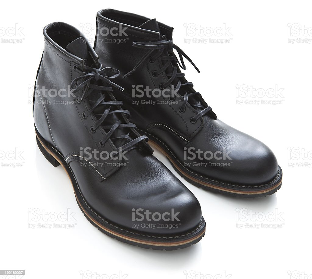 Mens Leather Boots royalty-free stock photo