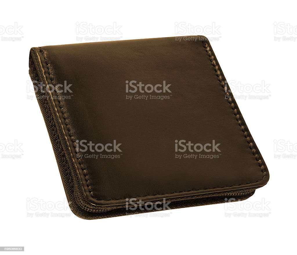men's leather wallet isolated on white royalty-free stock photo