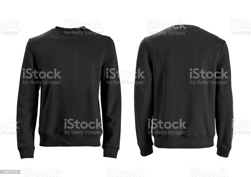 Men's long sleeve t-shirt isolated on white stock photo