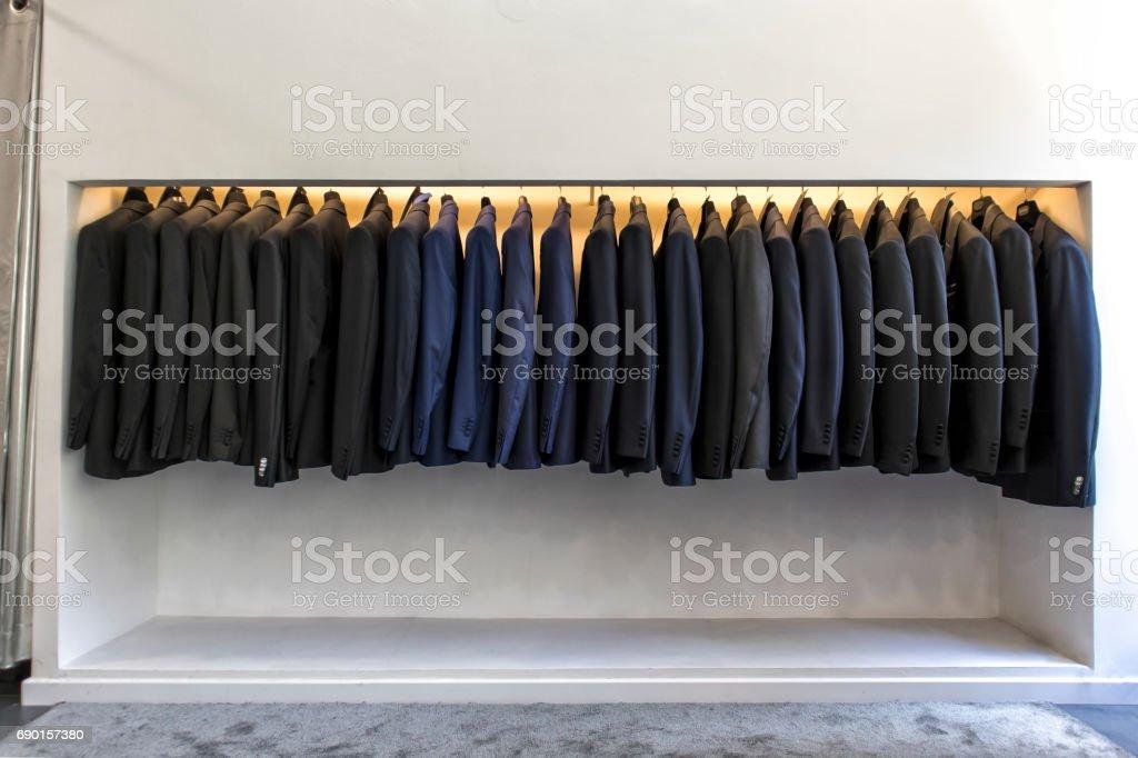 Men's luxury suits stock photo