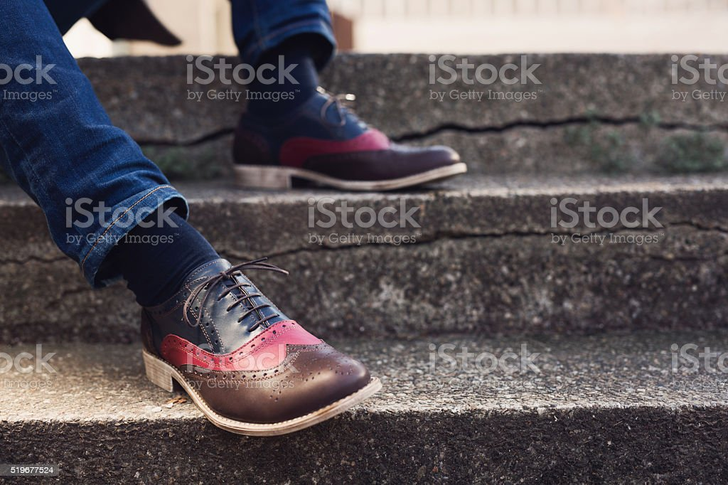 Men's Oxford Shoes stock photo