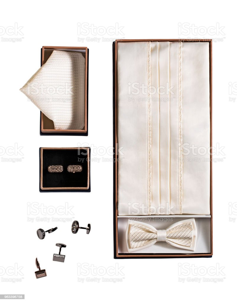 Men's personal accessories isolated on white background - Zbiór zdjęć royalty-free (Akcesorium osobiste)