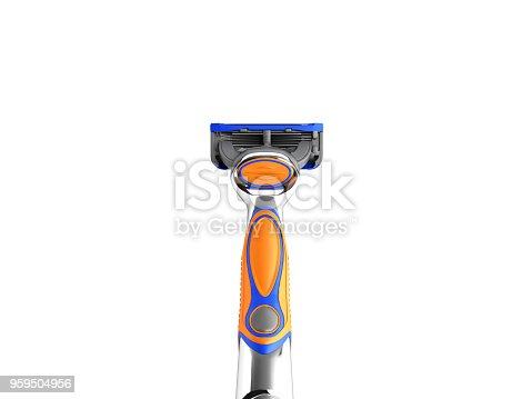 istock Mens razor 3d render on white background no shadow 959504956