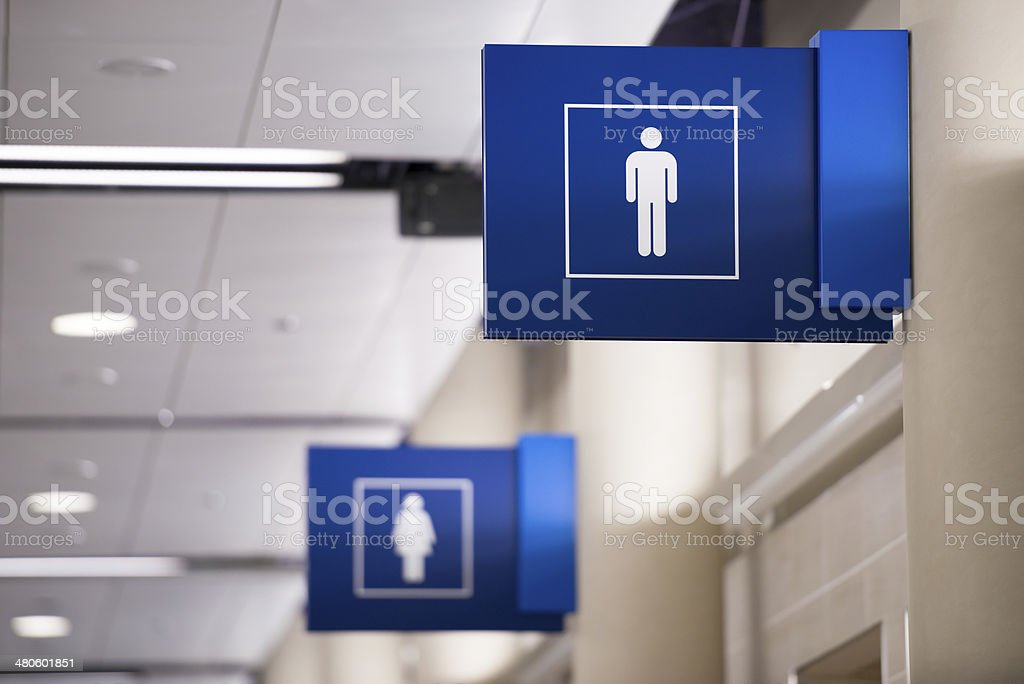 Mens Restroom Sign stock photo