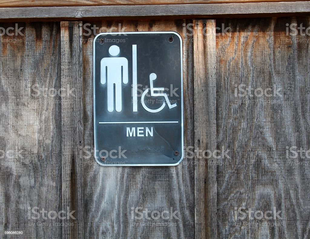 Mens Restroom Sign royalty-free stock photo