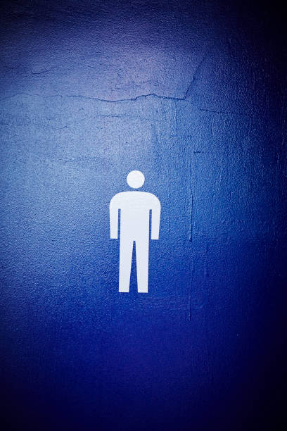 De banheiro masculino - foto de acervo