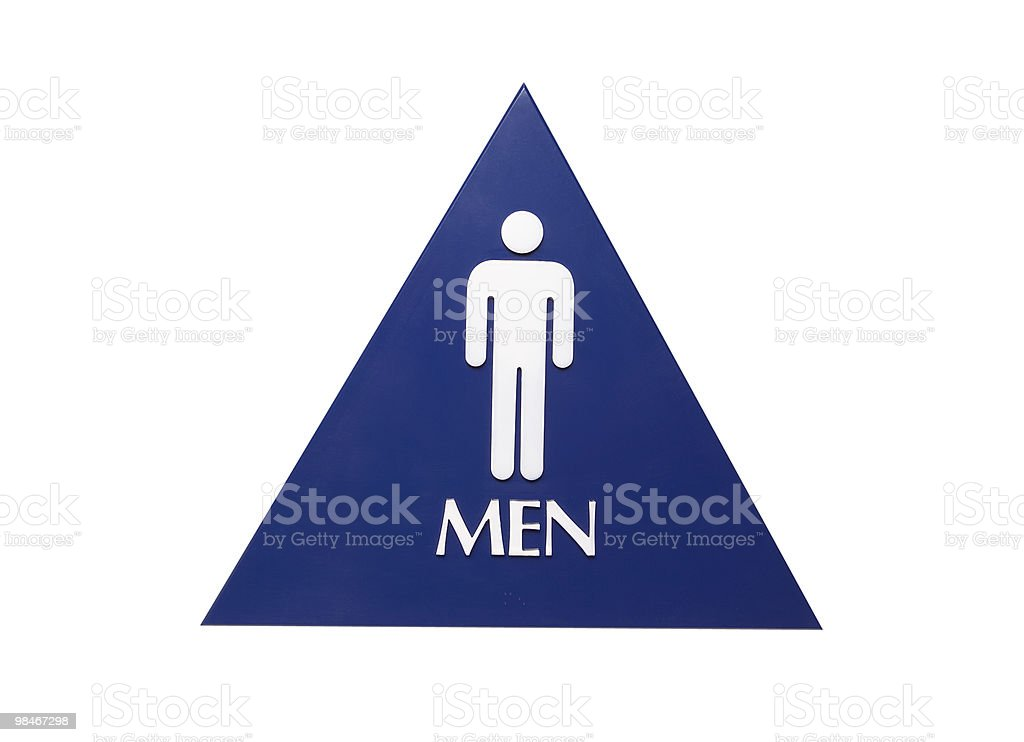 Men's Restroom Sign royalty-free stock photo