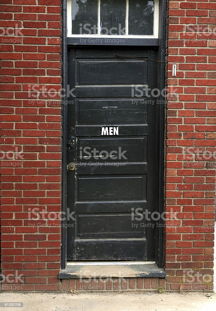 Mens' Room, Gas Station royalty-free stock photo