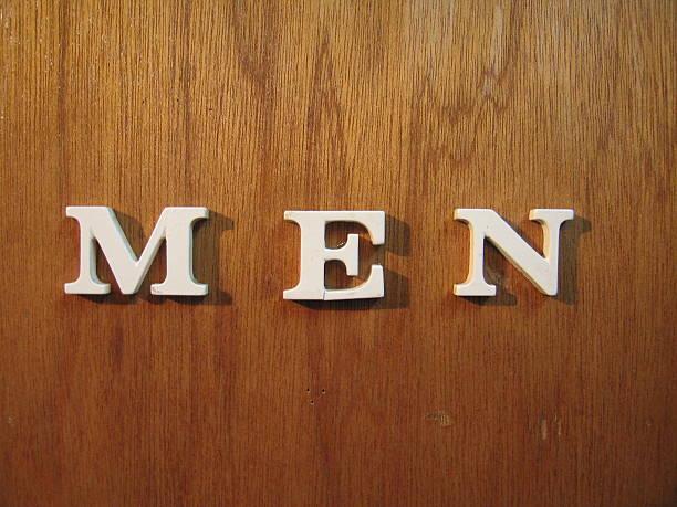 Mens Room stock photo