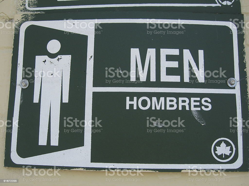 men's room sign royalty-free stock photo