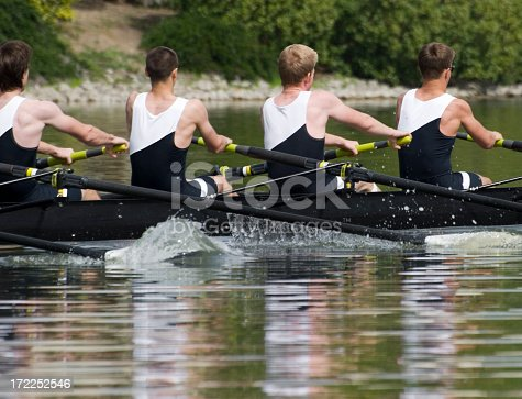 istock Men's Rowing Team - Teamwork 172252546