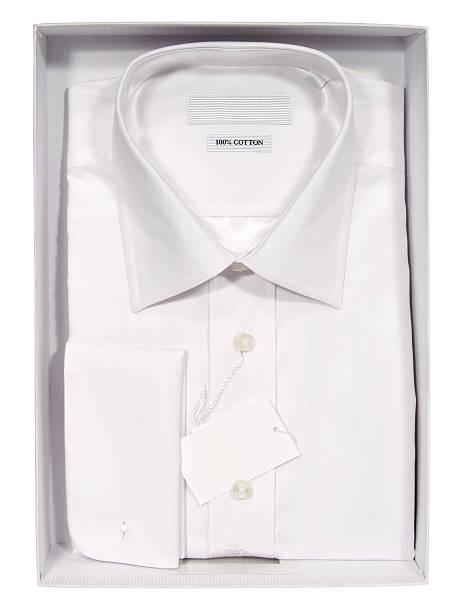 shirt für männer in a box - box falten stock-fotos und bilder