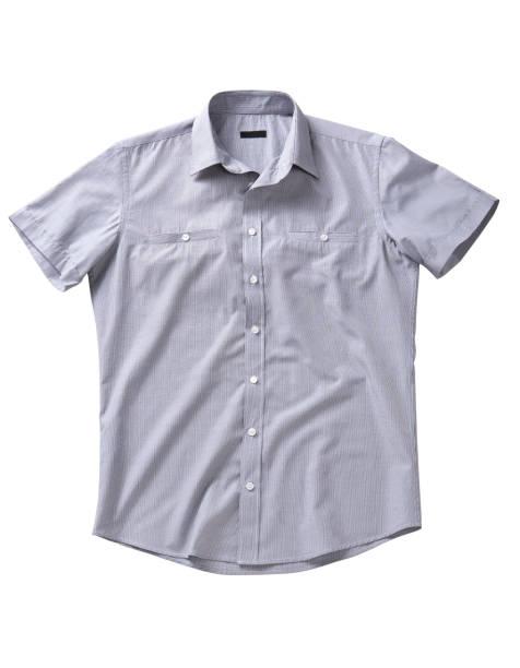 hemd voor mannen geïsoleerd op witte achtergrond - korte mouwen stockfoto's en -beelden