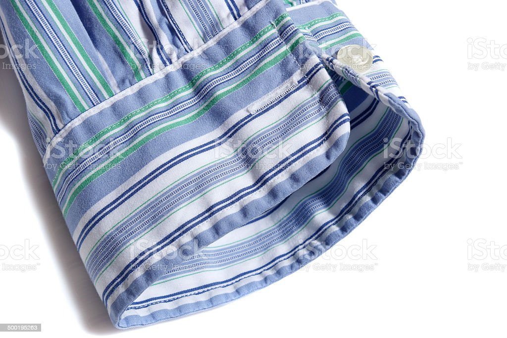 Mens shirt sleeve stock photo