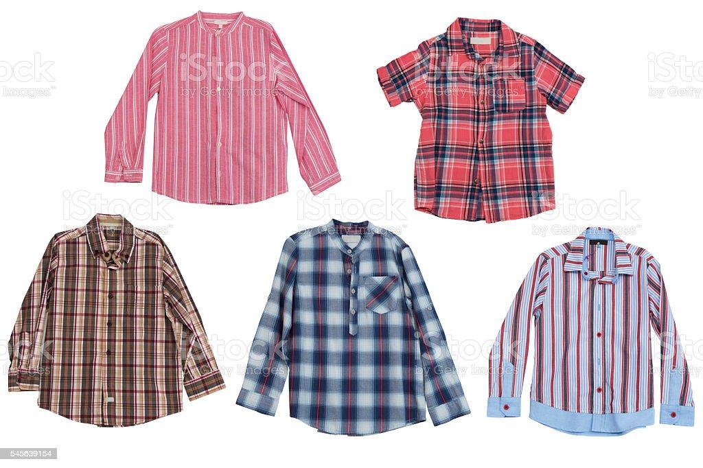 men's shirts isolated on white background stock photo