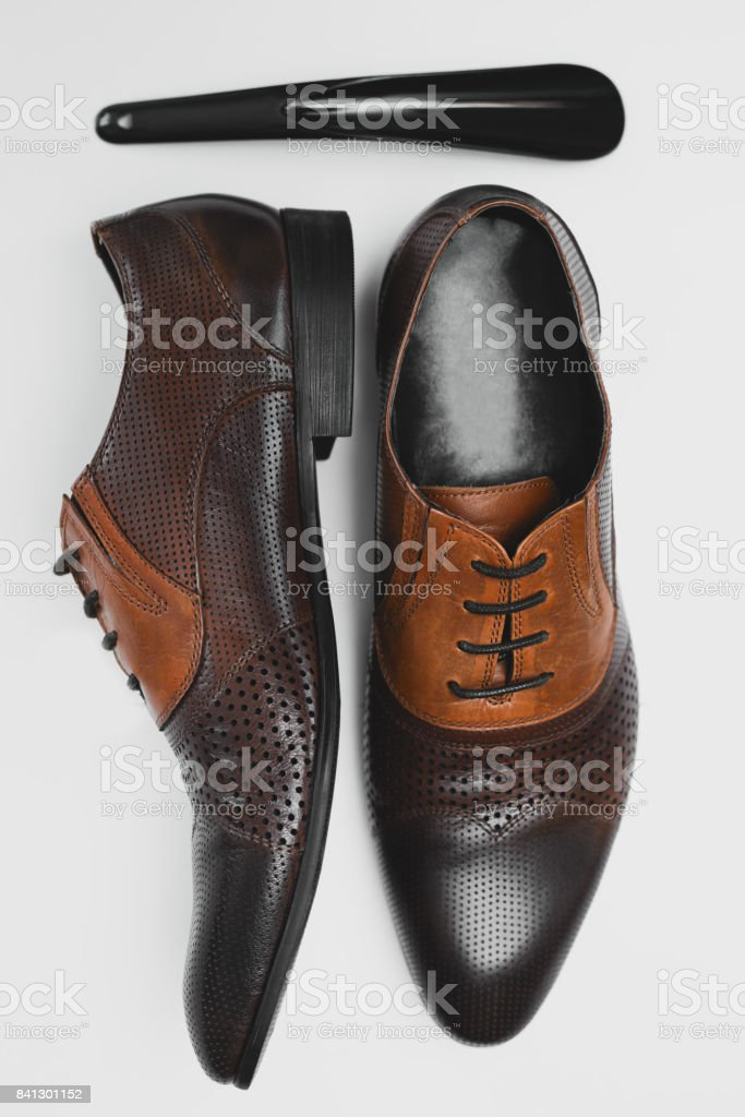 men's shoes and accessory stock photo