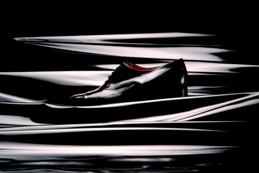 Elegant Black Leather Shoes.