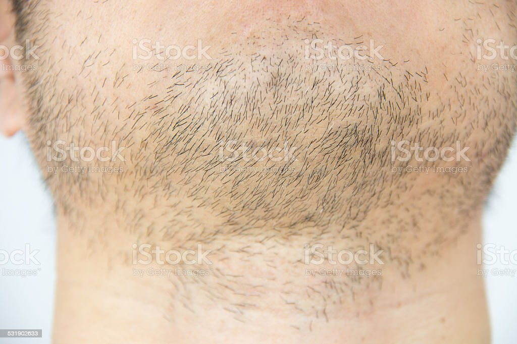 Mens short beard stock photo