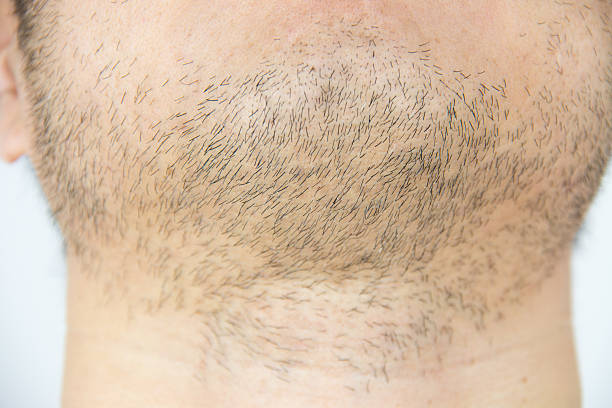 Mens short beard stock photo