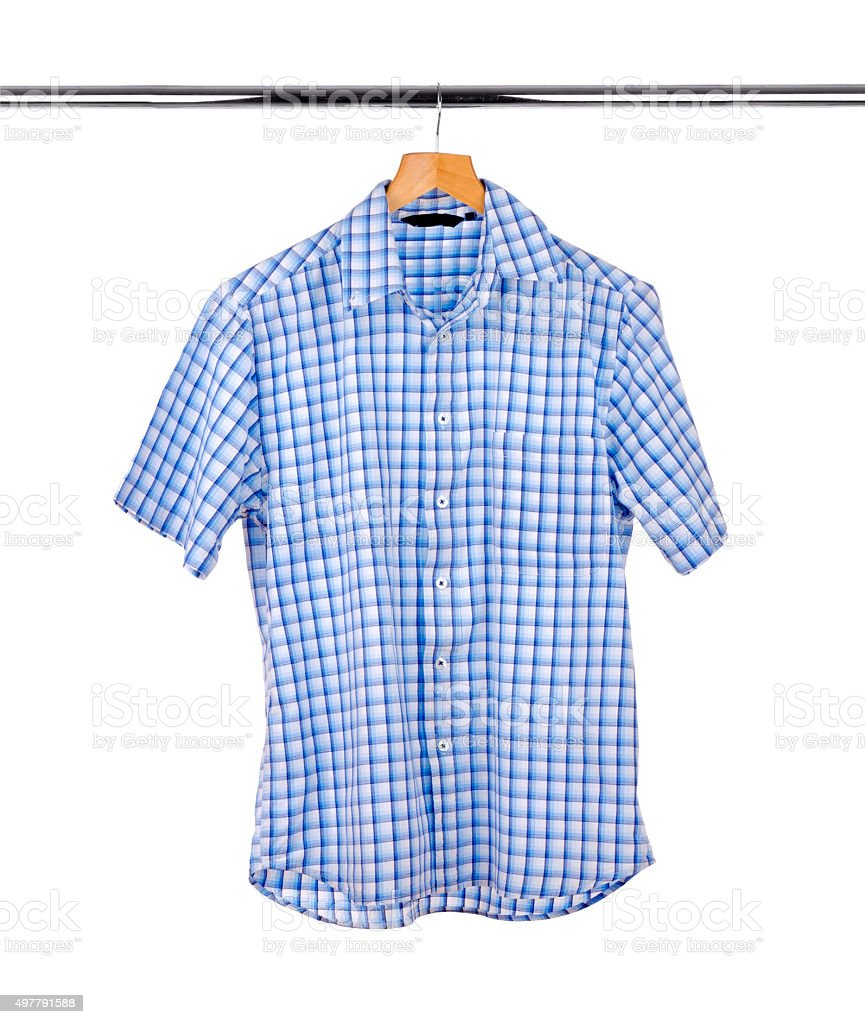 Men's  short-sleeved shirt stock photo