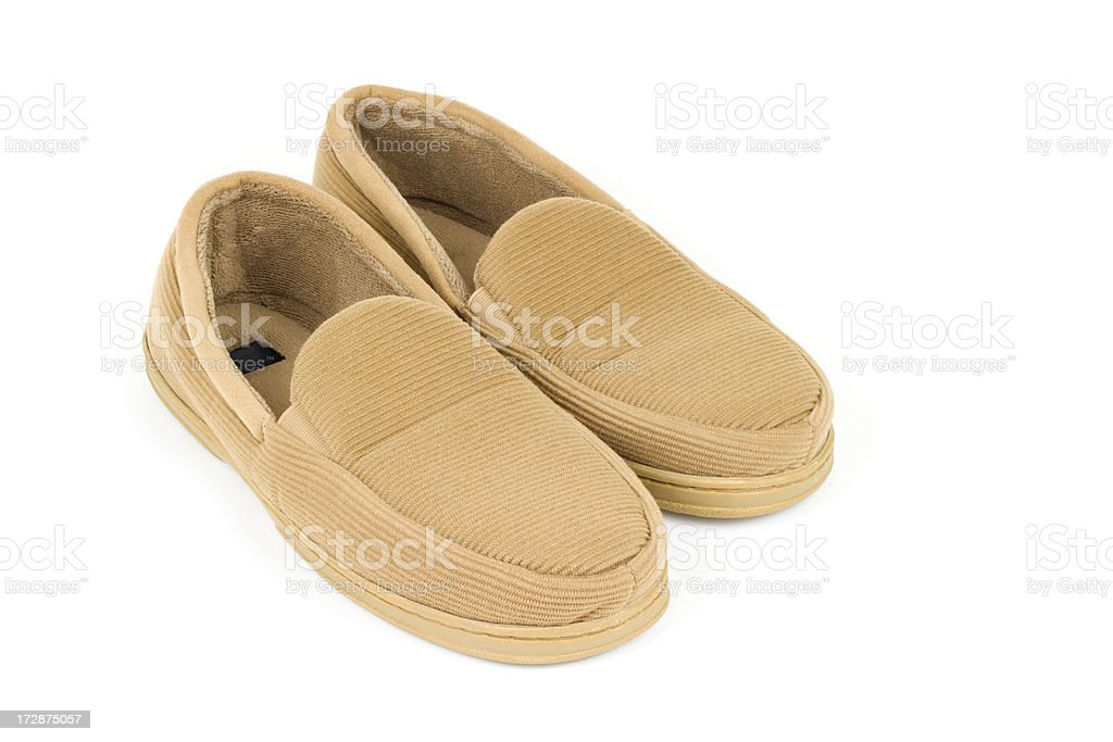 Men's Slippers royalty-free stock photo