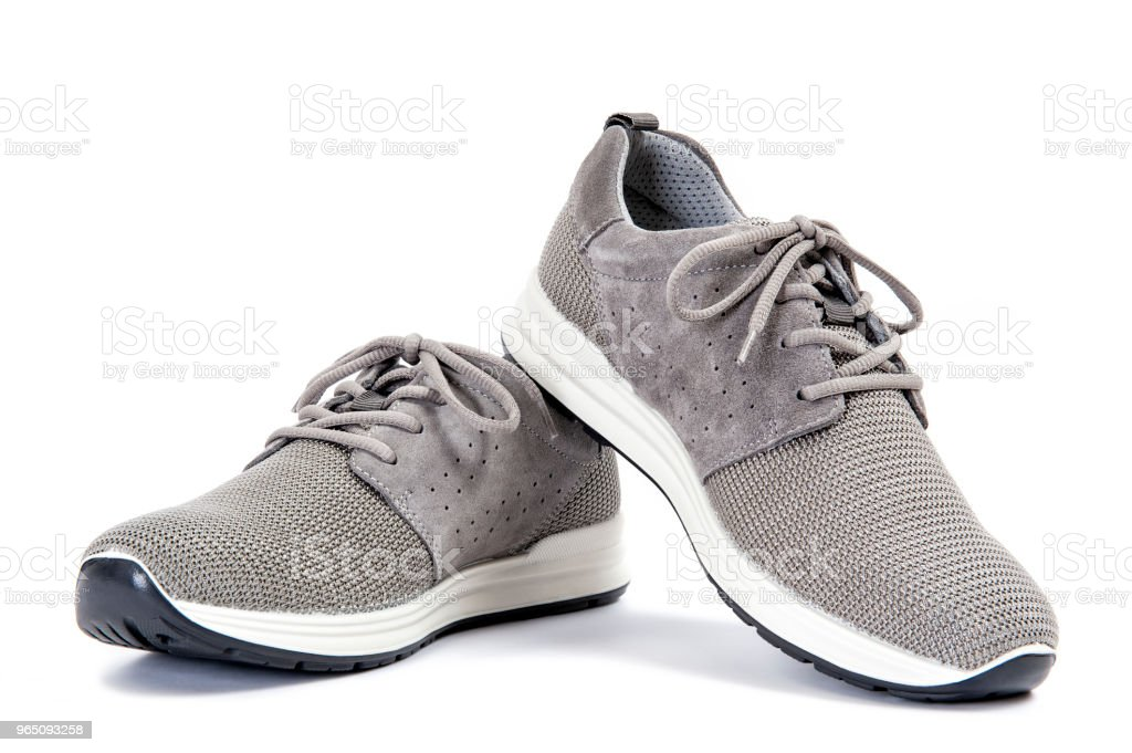 Men's sport shoes isolated on white background zbiór zdjęć royalty-free