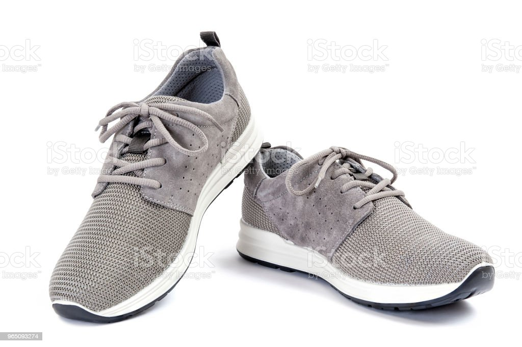 Men's sport shoes isolated on white background royalty-free stock photo