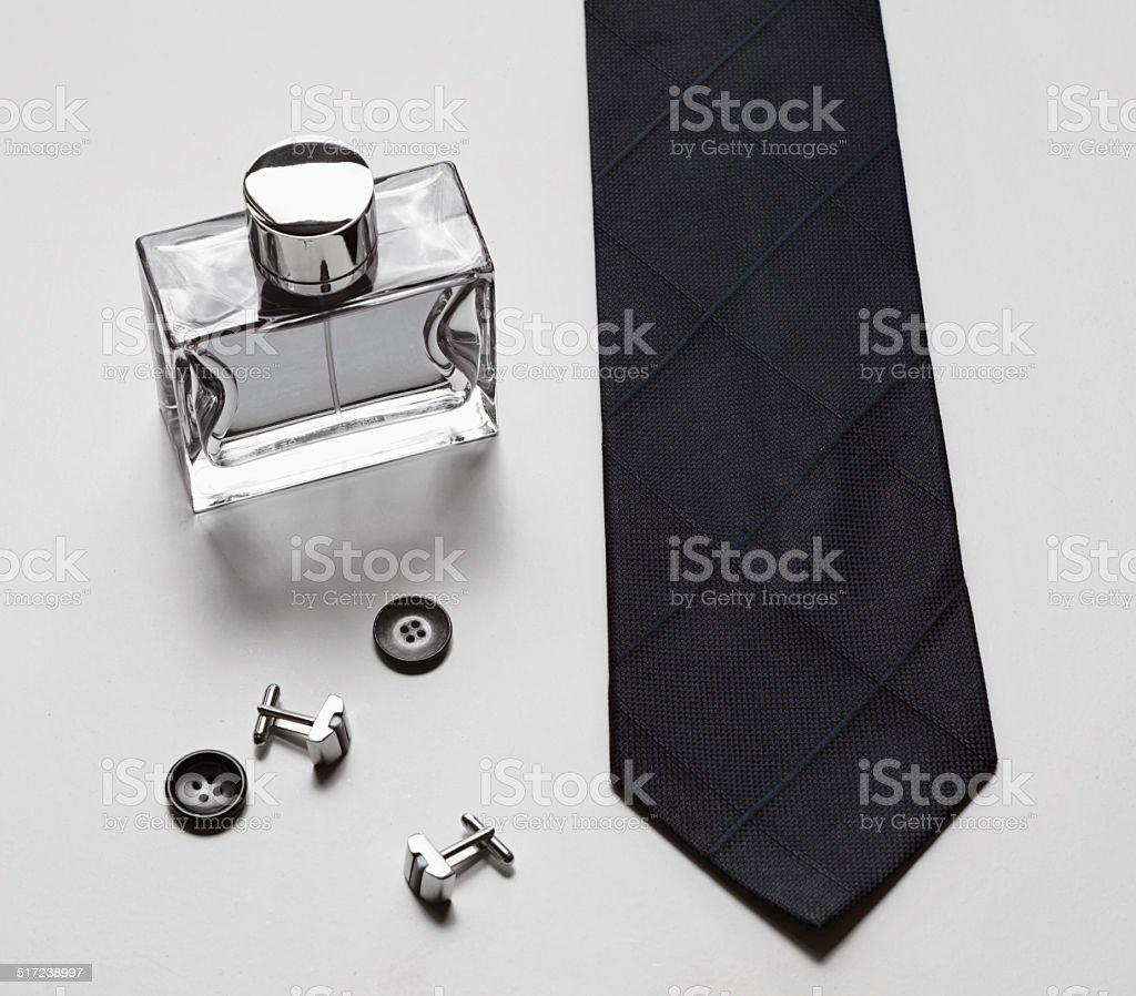 Mens stylish business accessories stock photo