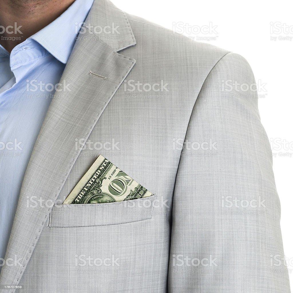 Mens suit closeup royalty-free stock photo