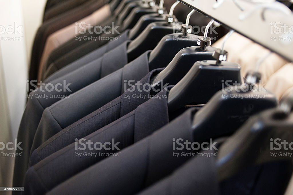 Mens suit jackets stock photo