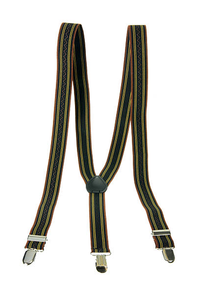 Men's Suspenders Men's Suspenders on White Background suspenders stock pictures, royalty-free photos & images