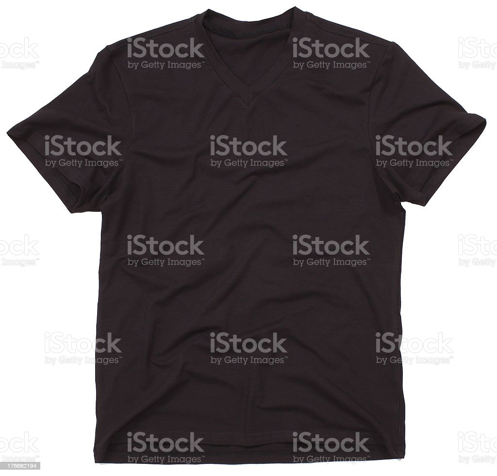 Men's t-shirt isolated royalty-free stock photo