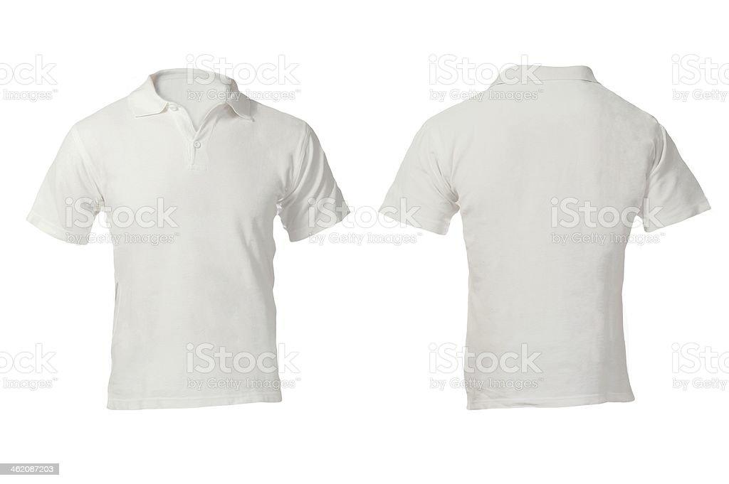 Men's White Polo Shirt Template stock photo