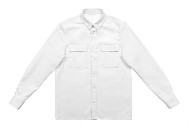 Masculina camisa branca - foto de acervo