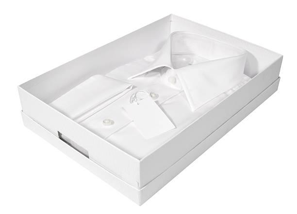 weißes herrenhemd - box falten stock-fotos und bilder