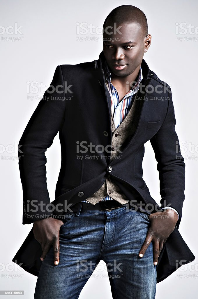 Men's Winter Fashion stock photo