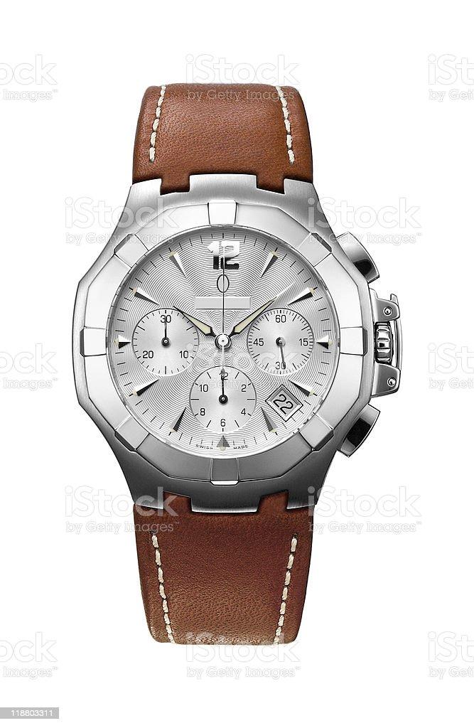 Mens Wristwatch stock photo