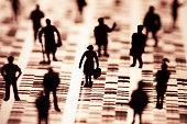 Menschen und DNA Profil